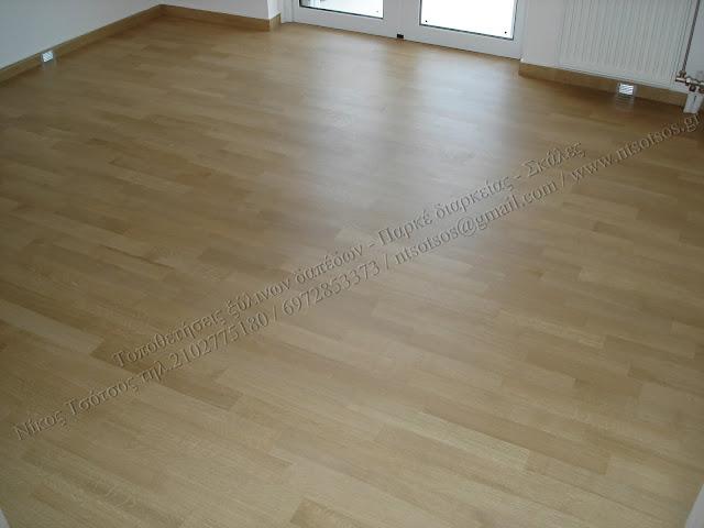 Συντήρηση σε δρύινα ξύλινα πατώματα