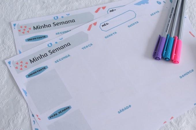 [Download] Planner semanal de mesa para imprimir