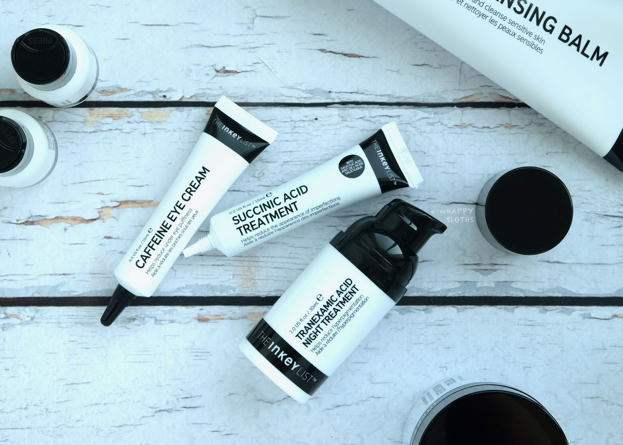 The INKEY List   Caffeine Eye Cream, Succinic Acid Treatment & Tranexamic Acid Hyperpigmentation Treatment: Review