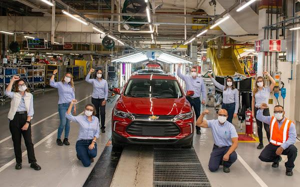 Chevrolet Tracker atinge 100 mil unidades produzidas no Brasil