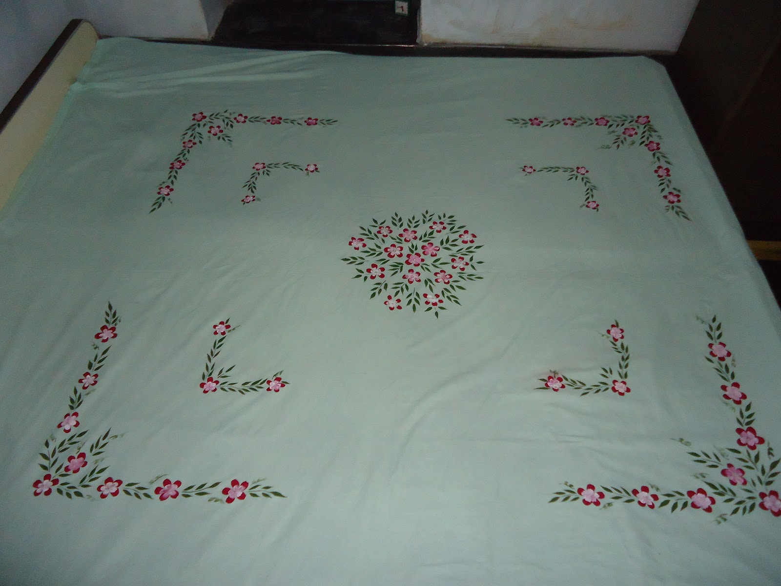 Fabric Painting Fabric Painting Design On Bedsheet