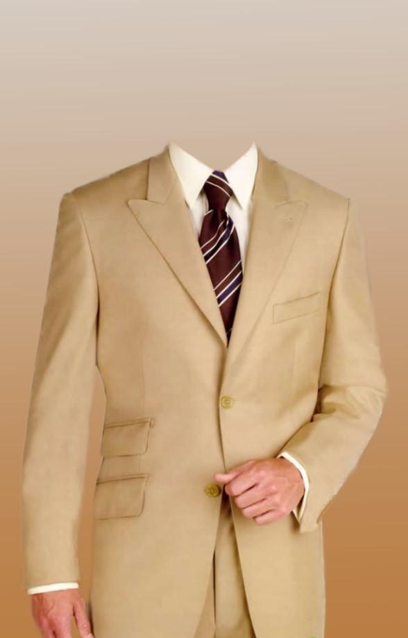 Download yellow psd men's suit costume