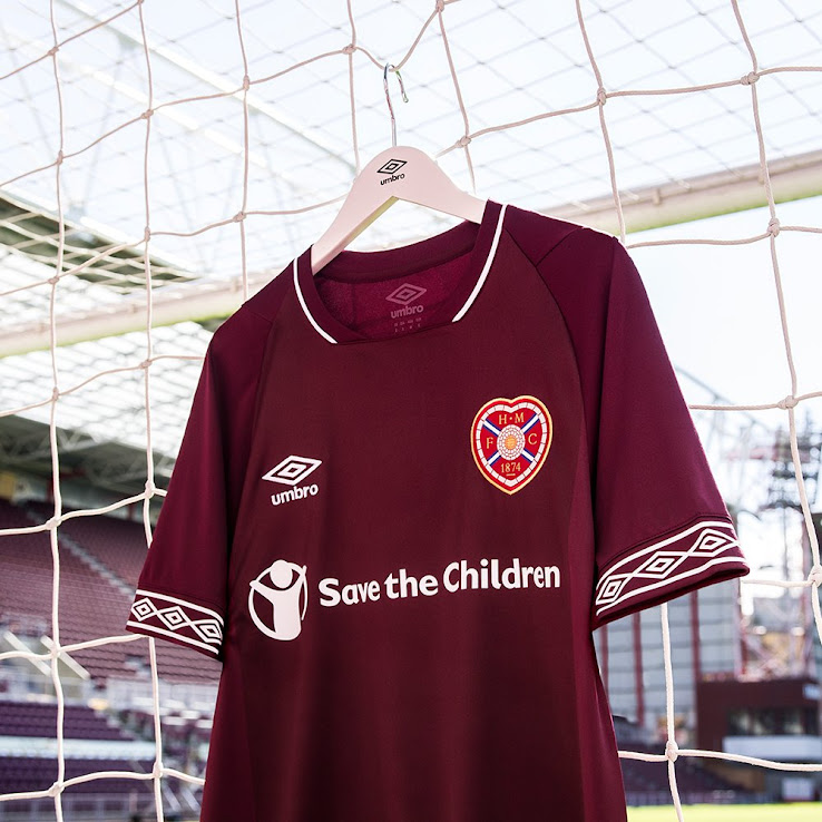 brand new 312c9 bff95 Hearts 18-19 Home Kit Released - Footy Headlines