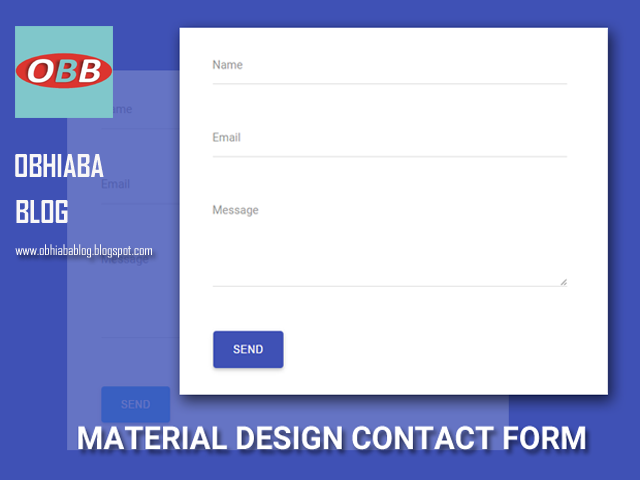 Blogspot Material Design Contact Form