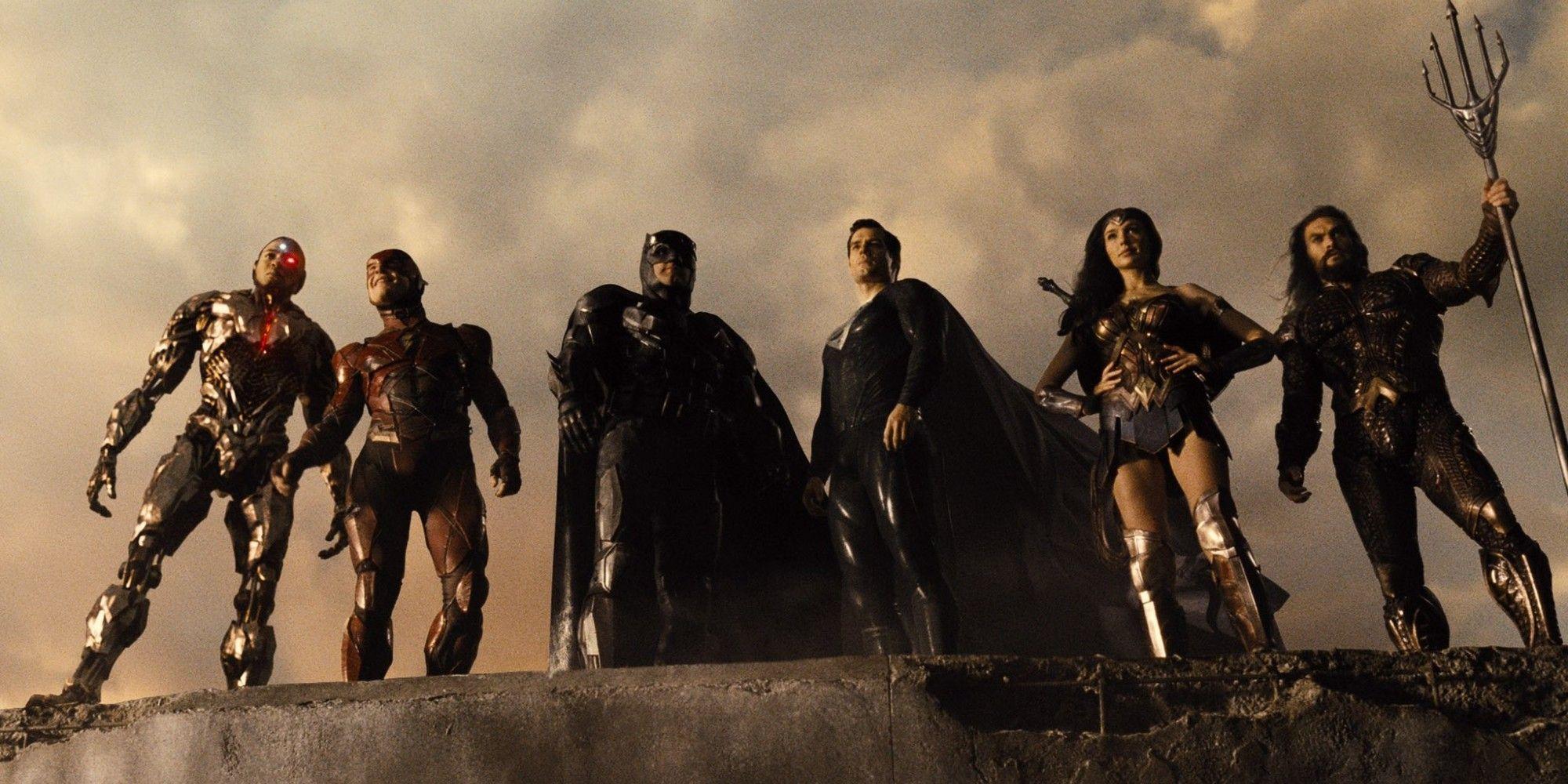 Ray Fisher Ezra Miller Ben Affleck Henry Cavill Gal Gadot Jason Momoa | Zack Snyder's Justice League HBO