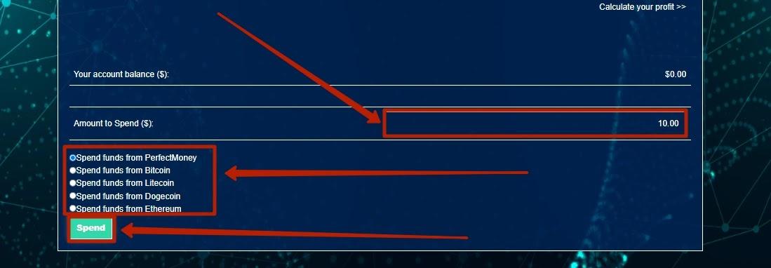 Пополнение баланса в Tradecoins 3