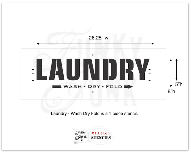 Stencil a Laundry Sign