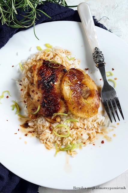 udka, kurczak, ananas, grill, bbq, obiad, mieso, kulinarny pamietnik, bernika