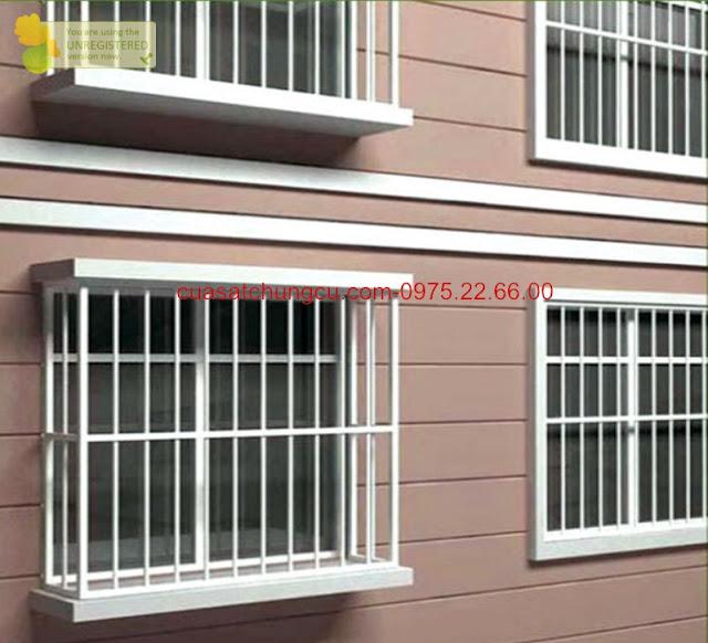 Khung sắt cửa sổ phìa ngoài cho các nhà dân an toàn
