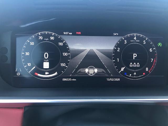 Gauge cluster in 2019 Range Rover Sport HST MHEV