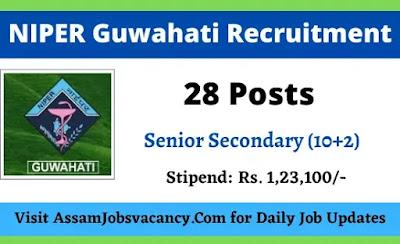 NIPER Guwahati Recruitment