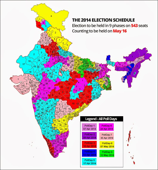 STATE-WISE LIST OF ELECTION DATES ~ AMIT KUMAR
