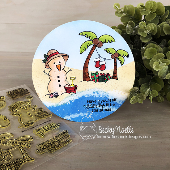 Have yourself a sandy little Christmas by Becky features Sun Soaked Christmas by Newton's Nook Designs; #newtonsnook