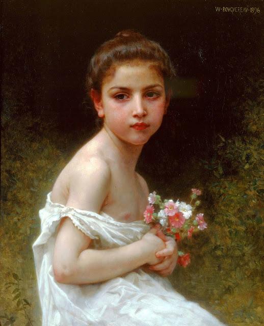 Адольф Вильям Бугро - Девочка с букетом (1896)