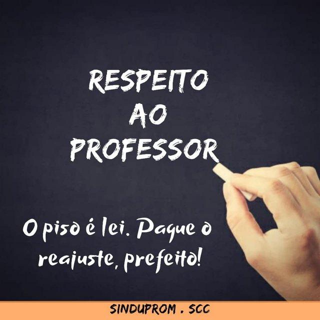 Professores de Santa Cruz do Capibaribe estão recebendo abaixo do piso nacional e exigem respeito