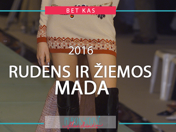 2016 RUDENS IR ŽIEMOS MADA