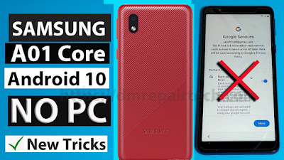 Samsung A01 Core FRP Bypass U3 Android 10 Without PC 2021