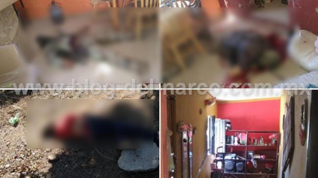 Así quedaron los 4 Sicarios que murieron en balacera en Choix Sinaloa