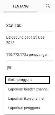 Cara melaporkan channel youtube