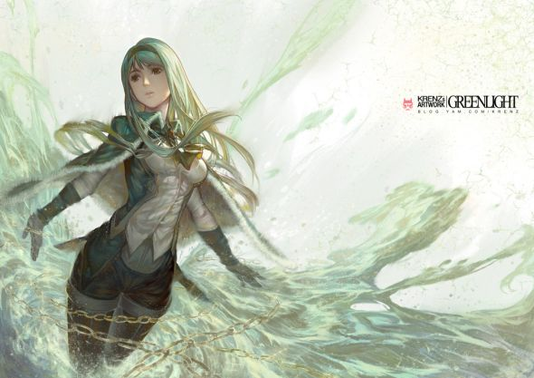 Krenz Cushart artstation deviantart arte ilustrações mulheres fantasia anime