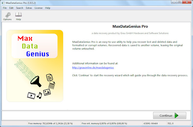 Screenshot MaxDataGenius Pro 1.9.5.2 Full Version