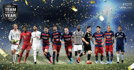 Neymar, Ronaldo & Messi included as UEFA release 40 man shortlist for team of the year