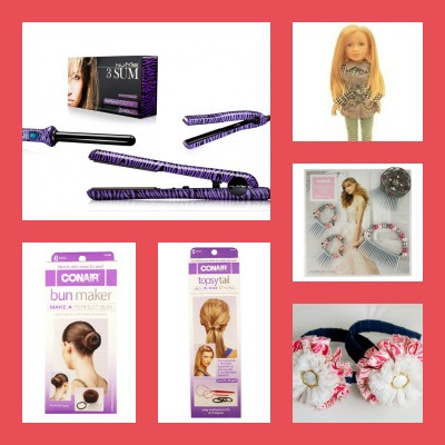 huge giveaway, nume, salon doll, hair accessories