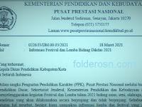 Informasi KSN, FLS2N, KOSN, GSI, LPSN SD dan SMP Tahun 2021