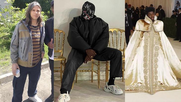Photo de couverture look et mode fou rap game 2021 orelsan, lil nas et Kanye West