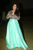 Nikki Galrani in Green Skirt  Top at Marakathamani music launch ~  Exclusive (156).JPG
