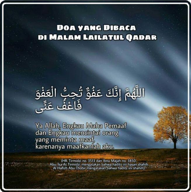 Doa Malam Lailatul Qadar