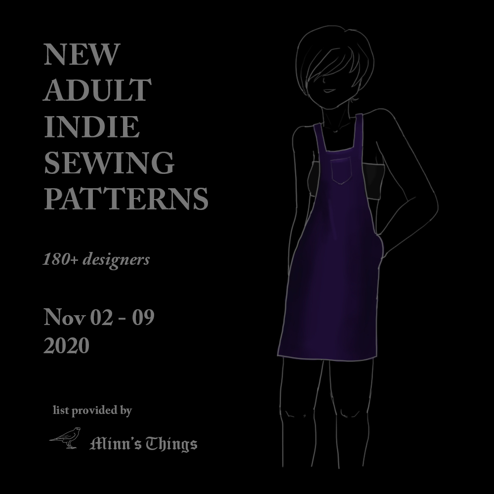 new adult sewing patterns releases november 2020 list all indie small designers dresses tops pants jumpsuits
