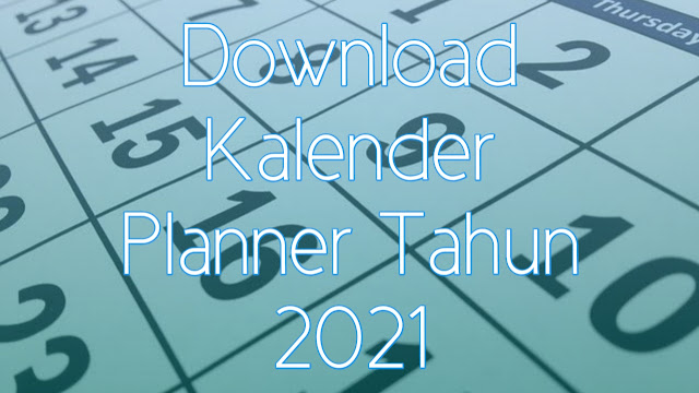 Download Calendar Planner 2021 PDF Excel