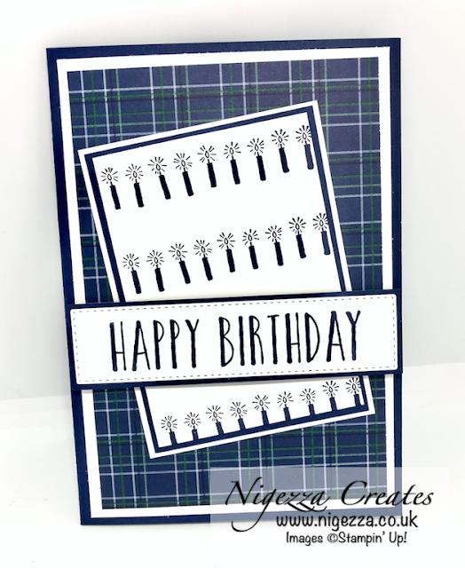 Nigezza Creates with Stampin' Up! Stamp Around UK May Happy Birthday Capt Tom