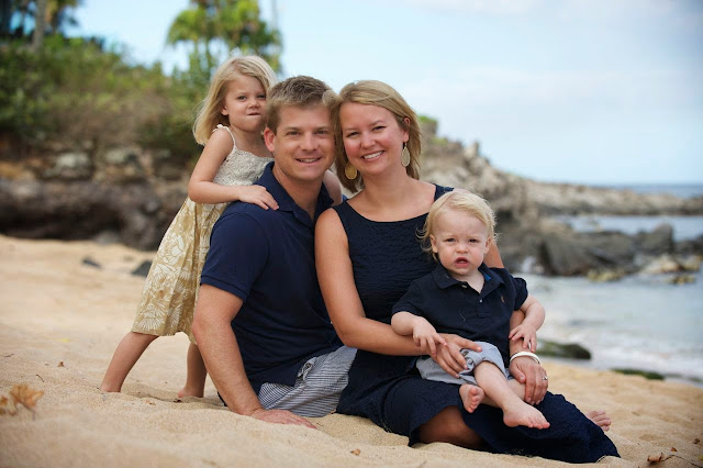 maui family portrait photography on the beach