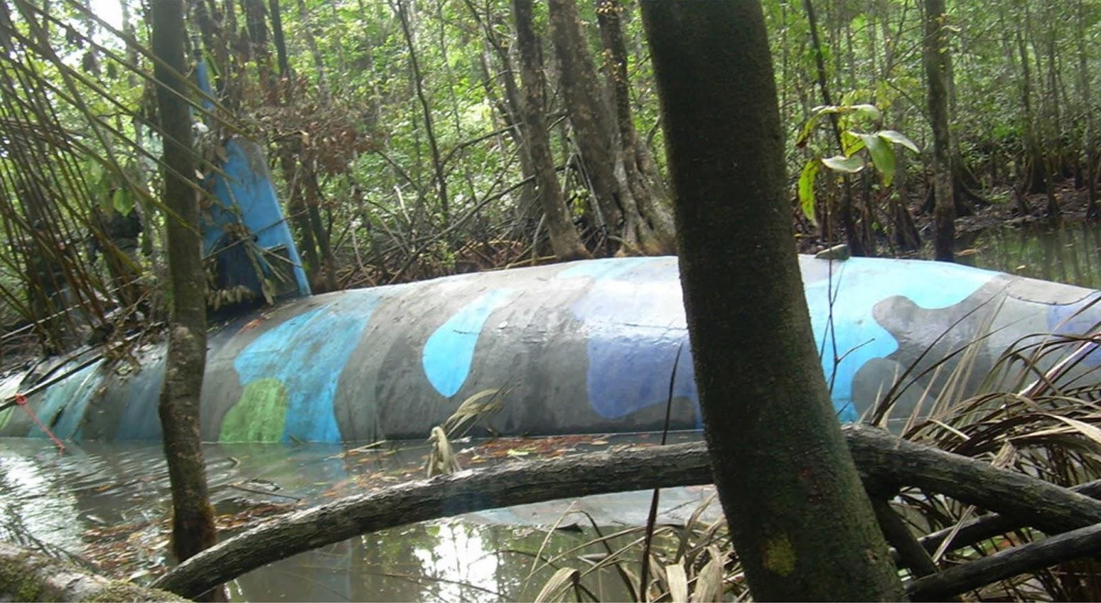 Angkatan Laut Kolombia menahan kapal selam baru kartel narkoba
