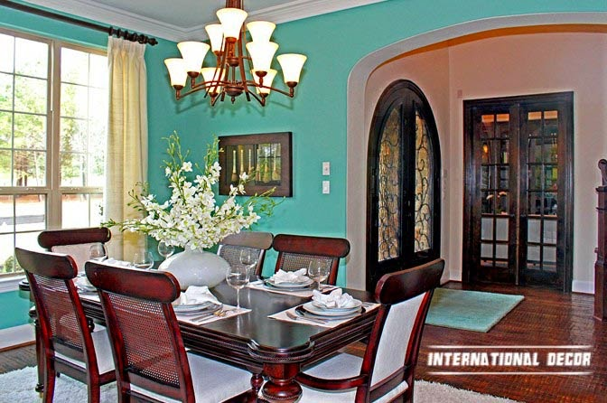 turquoise wall interior design