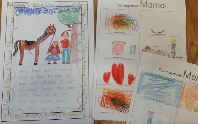 Arbeitsblatt zum Buch Mama von Mariana Ruiz Johnson - 1. Klasse, Grundschule