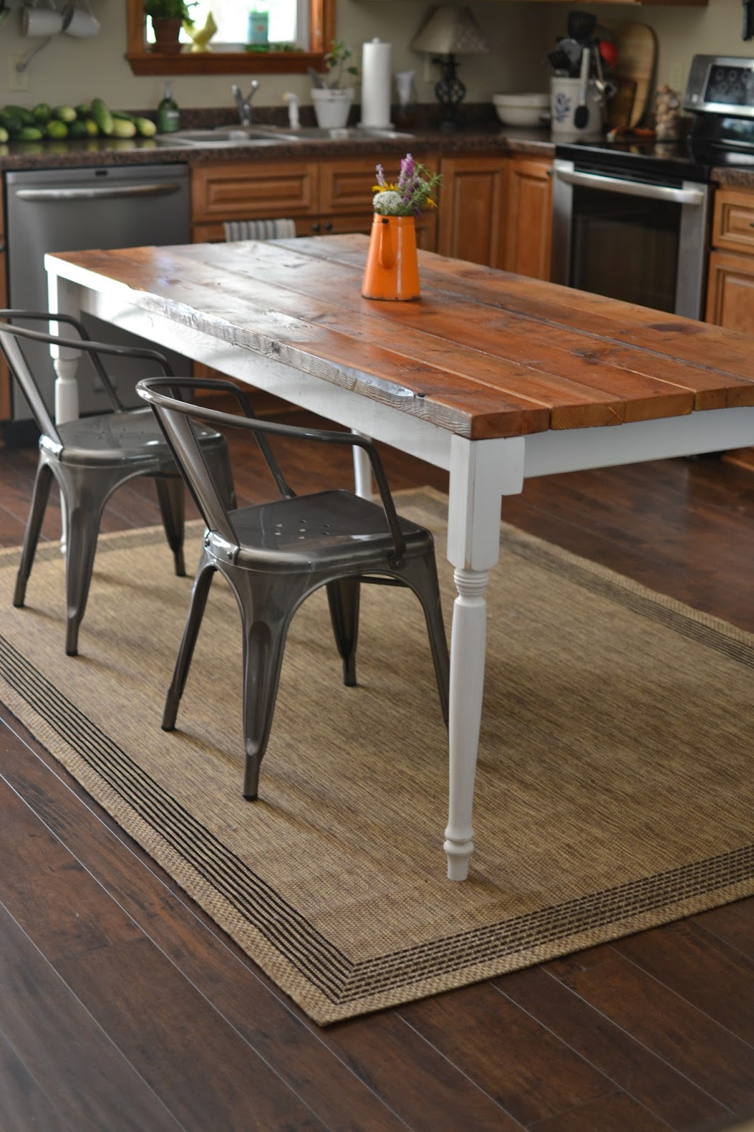 Finest Our Neck of the Woods: Reclaimed Wood Farmhouse Table YH78
