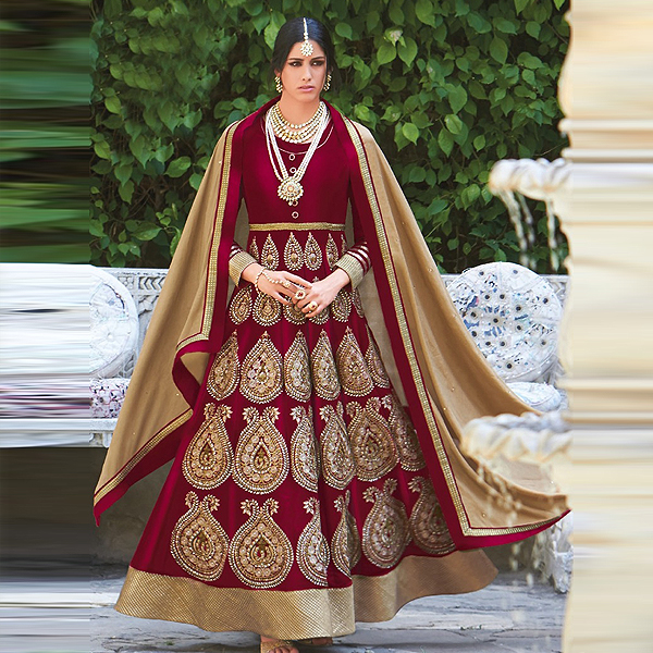 Wedding and Party Wear Anarkali Suits - kaseeshonline