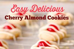 Easy Delicious Cherry Almond Cookies Recipe