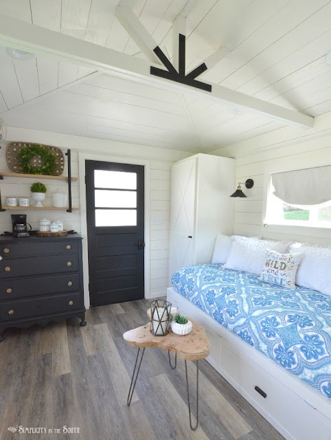 shed transformed into guest house