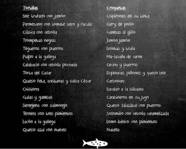 Tortillas y croquetas de el pez tortilla de madrid