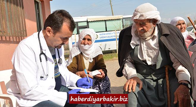 Başil'de 78 kişi sağlık taraması hizmetinden faydalandı