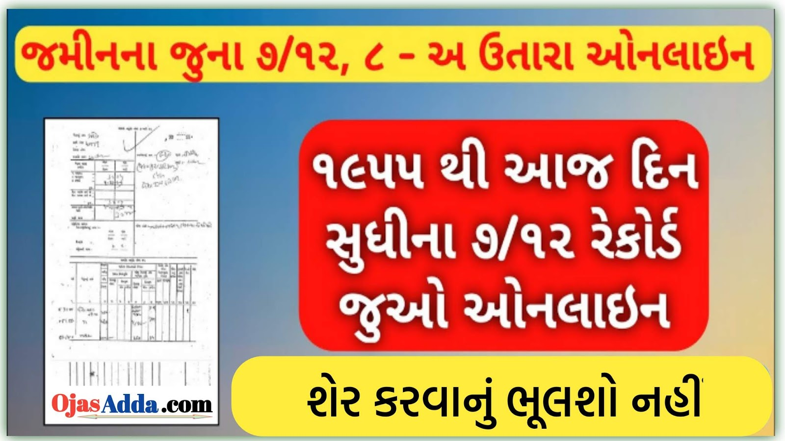 Any RoR Gujarat Land Record - Check Your Land Records
