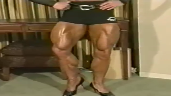 Stunning Muscle Female bodybuilding, bulging with power
