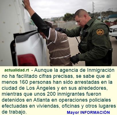 Detienen a cientos de inmigrantes ilegales en distintas redadas a lo largo de todo EE.UU.