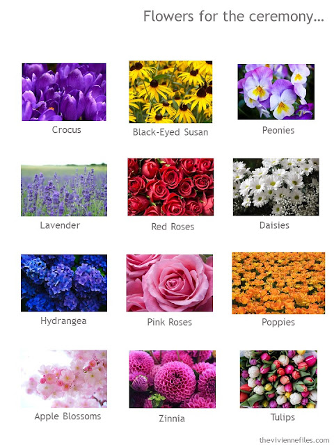 What flowers will you choose?