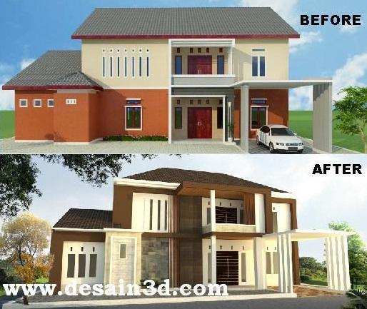 Jasa Desain Rumah Ruko Exterior Interior
