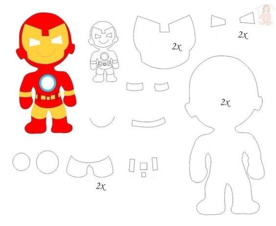 Ironman: Free Printable Template